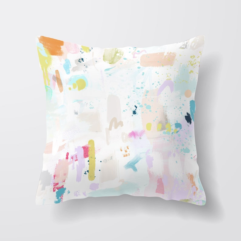 Pastel Throw Pillow Decorative Pillows Cushion Covers Uk image 0
