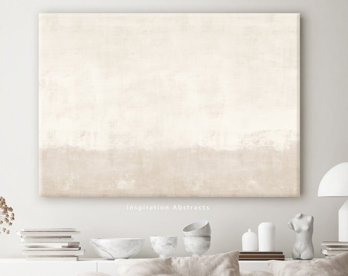 Minimal Beige Canvas Print, Oversized Wall Art, Large Abstract Painting, Abstract Art, Canvas Wall Art, Rothko Inspired, Bedroom Decor