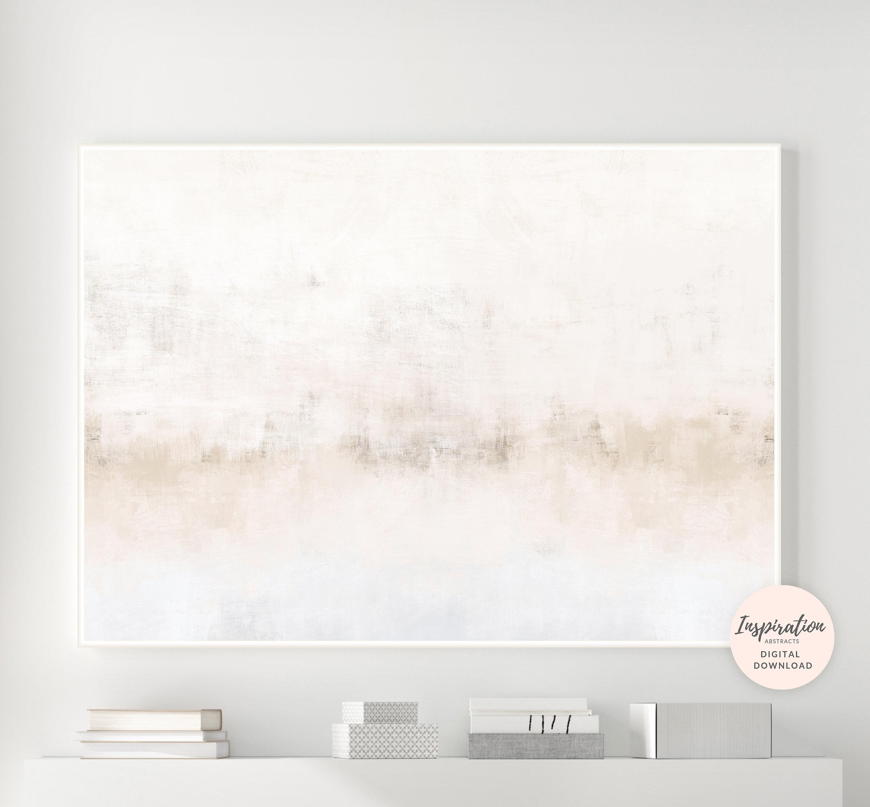 Large Beige And Grey Abstract Painting Printable Art Large Wall Art Minimalist Art Living Room Art Zen Wall Art Horizontal Wall Art