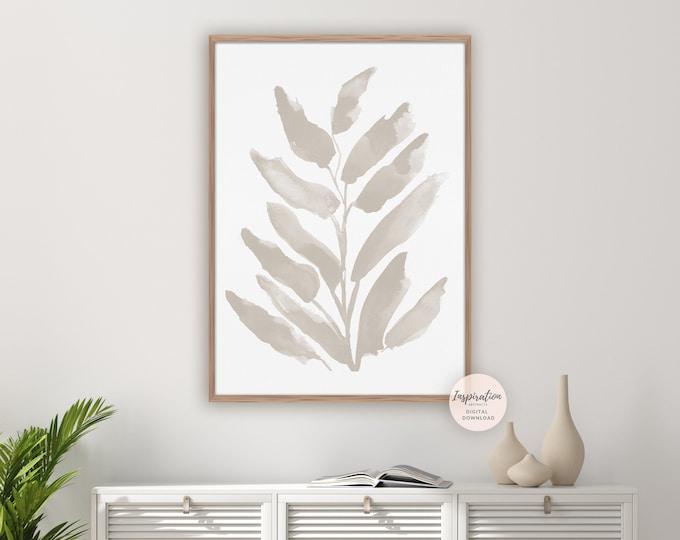 Minimal Botanical Print, Watercolour Painting, Printable Art, Minimalist Print, Office Wall Art, Modern Wall Art, Zen Wall Art