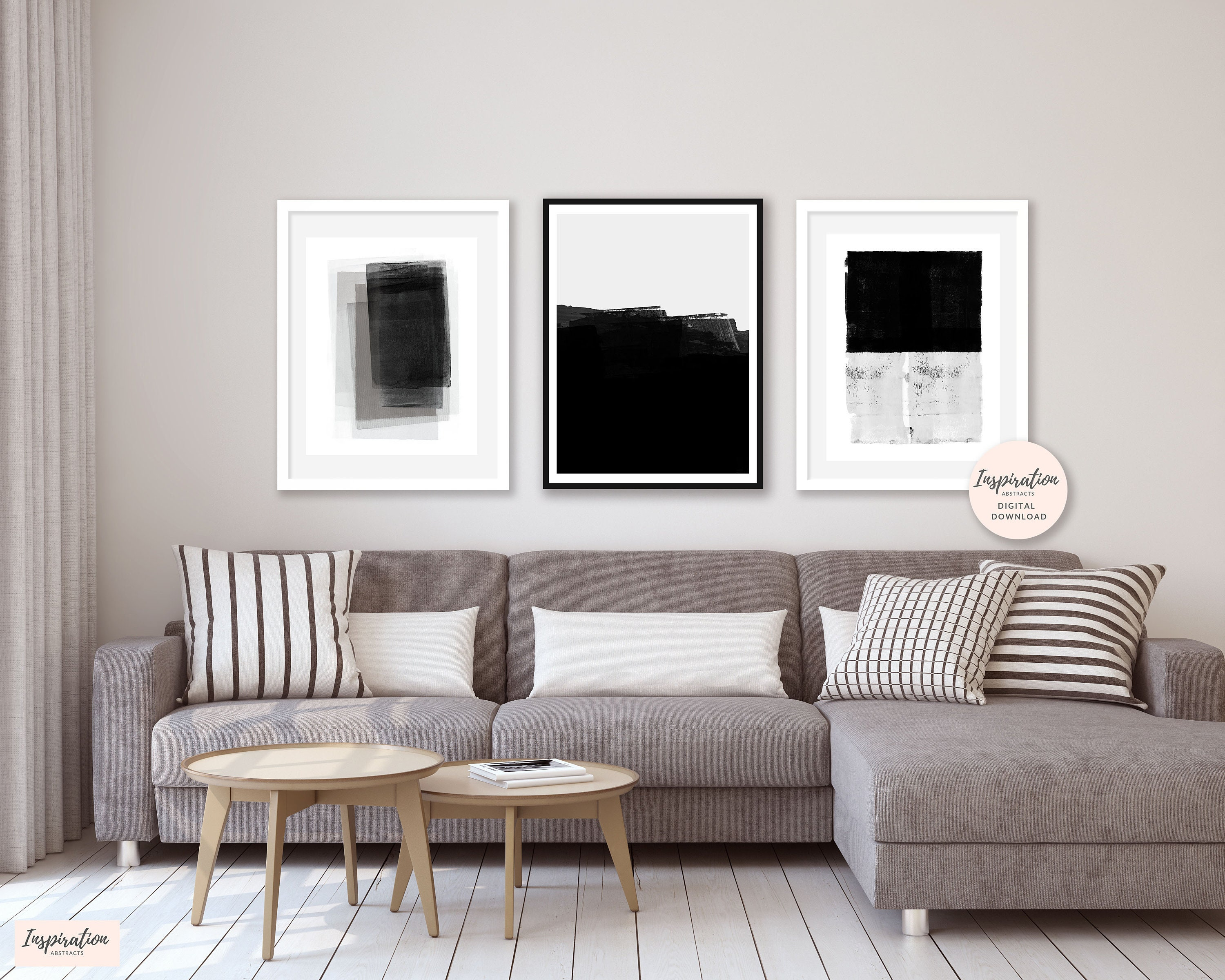 Gallery Wall Prints, Minimal Abstract Art, Set Of 4 Art