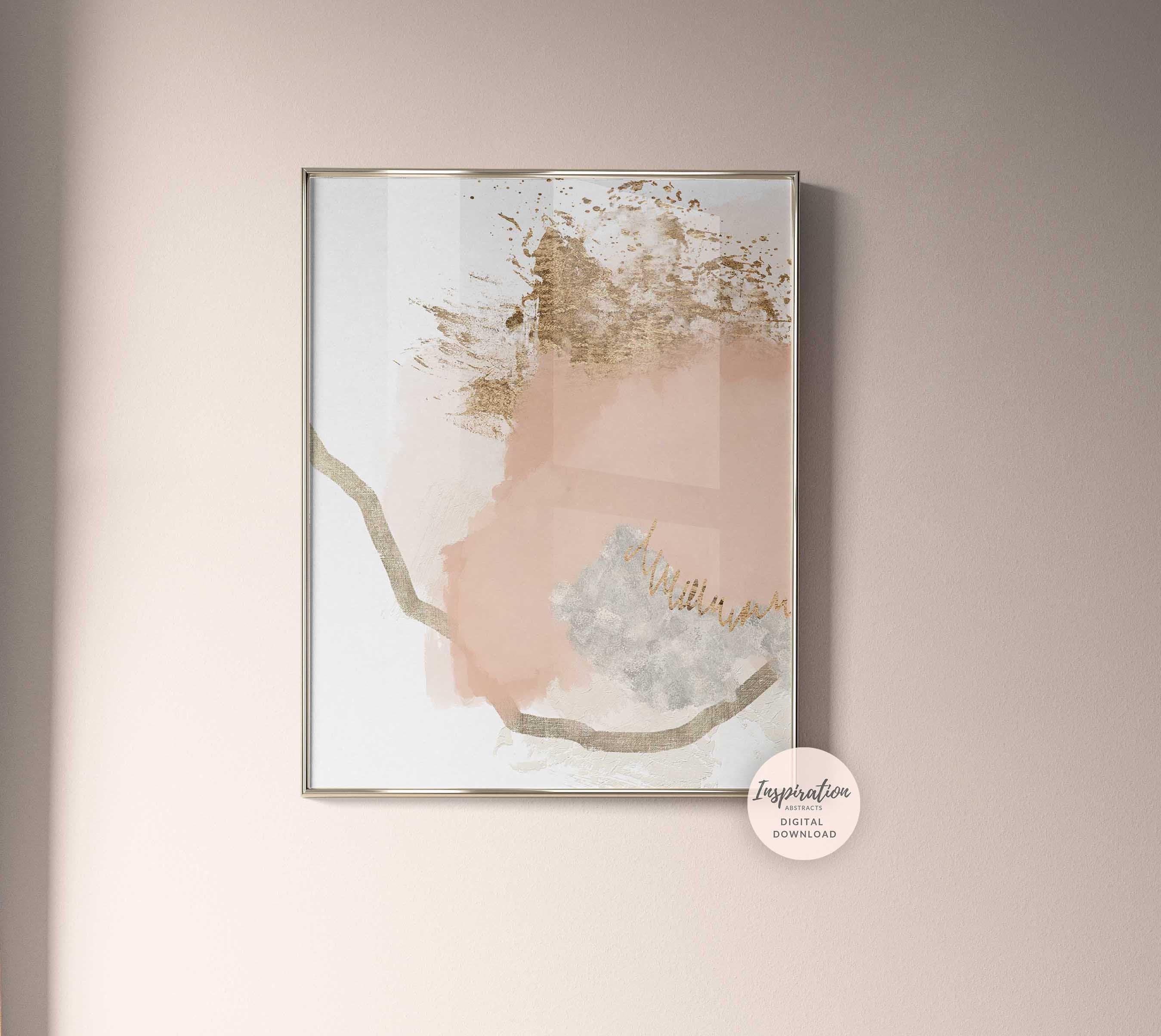 Minimal Abstract Painting Blush Pink Wall Art Printable Art Abstract Art Large Wall Art Minimalist Art Bedroom Wall Art
