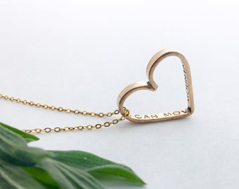 Customizable Hidden Message Heart Necklace