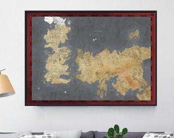 Westeros Karte Hd.Game Of Thrones Map Etsy