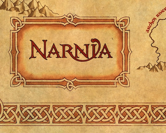 Chronicles Of Narnia Narnia Map Baby Shower Gift Gift For