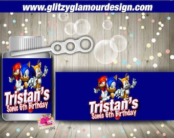 Custom 4oz bubbles wrapper, party favor, gamer bubbles, gamer birthday-DIGITAL FILE ONLY-You Print