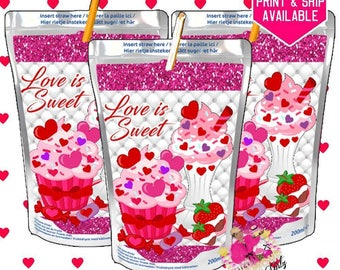 Valentine's Day juice, Capri Sun, Valentine's Day class party, Valentine's Day favor, Valentine's Day -DIGITAL FILE ONLY