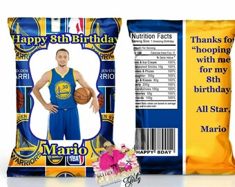 Golden State party Favors Chip Bags -----DIGITAL FILE ONLY