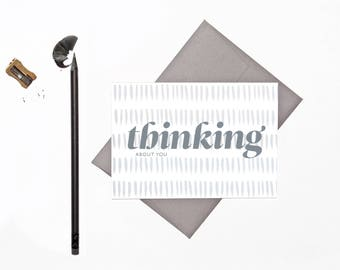 Thinking About You | Sympathy Card  | Greeting Card