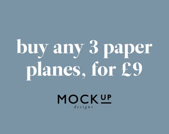 Buy 3 Paper Planes for 9 Pounds