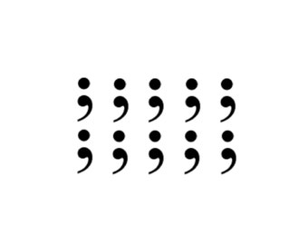 10 miniature semicolon temporary tattoos / tattoos / tattoo / fake tattoo / black / semicolon