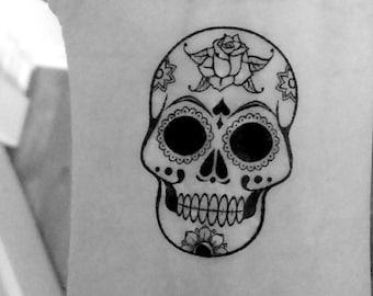 2 skull / skull / temporary tattoos / wrist tattoos / tattoo / fake tattoo / temporary tattoo / black