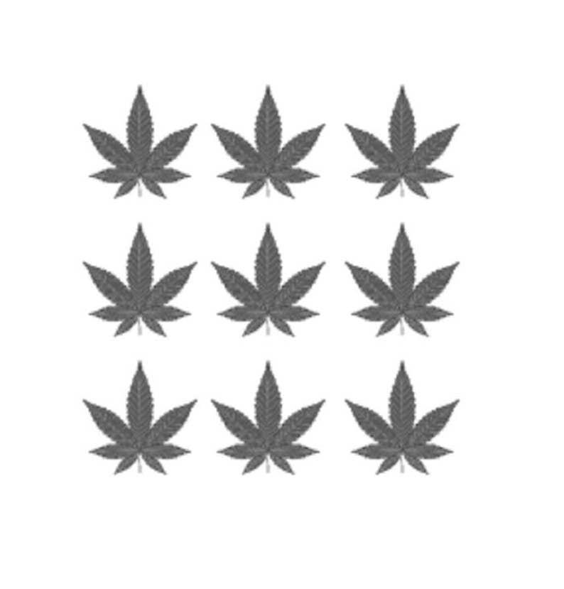 95bbce4dfc88a 9 small leaves of cannabis / marijuana / weed / temporary | Etsy