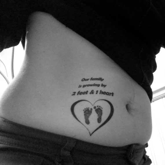 2 Tatouages Temporaire Annonce Grossesse Our Family Is Etsy