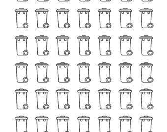 Planner stickers / bin / basket / planner stickers / scrapbooking