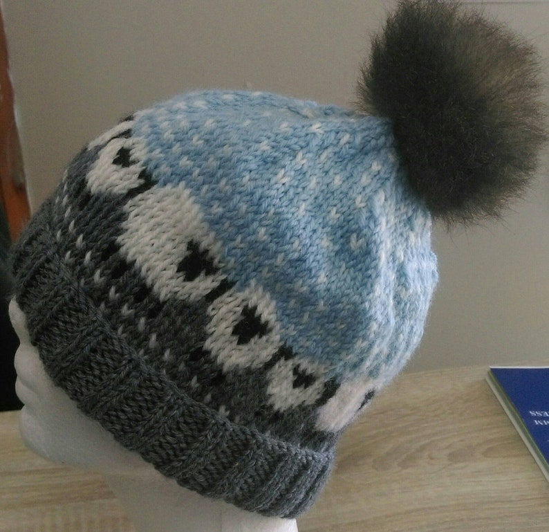 3bf80657d8c Hand knit baa ble beanie pure New Zealand wool