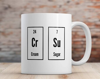 Gift for Science Teacher Gift for Chemistry Teacher, Christmas Gift Mug, Parody Coffee Mug, Periodic Table Gift