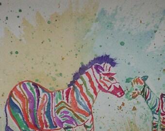 NUZZLING Zebras