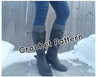 Crochet PATTERN Boot Cuffs, Boot Toppers, Crochet Boot Socks -  Instant Download - 4 Sizes - PDF Pattern - Make it yourself - Pattern #12