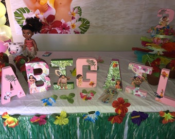 Moana Cake Table Letters Birthday Supplies Party Decorations Baby
