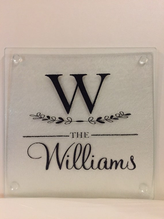 Personalized Glass Cutting Boards Thanksgiving Beautiful Monogrammed Name Custom Made Cutting Board