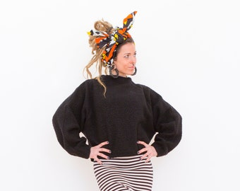 FAUX FUR SWEATER - Women Sweatshirt, Sherpa Sweater, Hippie Sweatshirt, Turtle Neck Sweater, Gypsy, Raglan Sweatshirt, Batwing Sweater
