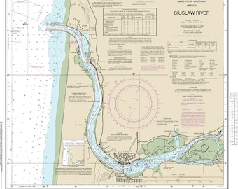Official Noaa Chart of Siuslaw River 18583