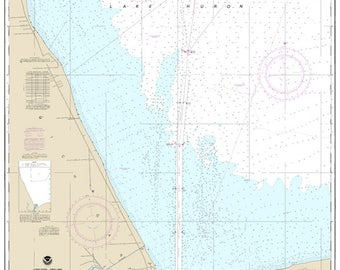 Official Noaa Chart of the South End of Lake Huron 14865