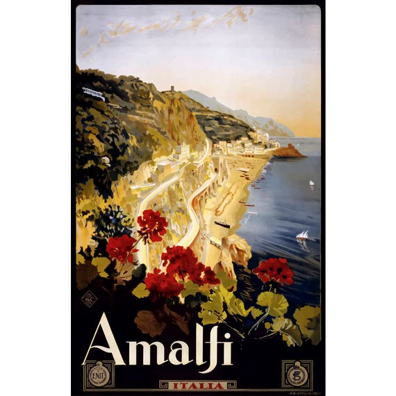 Amalfi Italy Birthday Card Italian Greeting