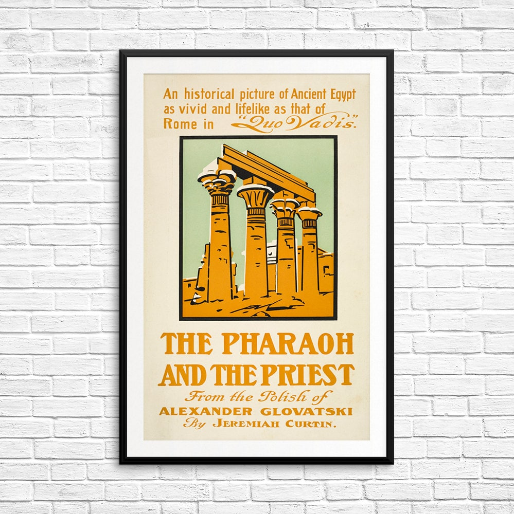 Book print Pharaoh and Priest Alexander Glovatsky book art | Etsy