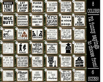 Funny Bathroom Signs, Bathroom Wall Decor, Kids Bathroom, Bathroom Humor,  Toilet Sign, Bathroom Signs, Farmhouse Bathroom Decor, Restroom