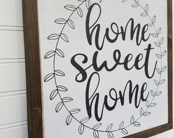 Large Sign - Home Sweet Home - Farmhouse Sign - Rustic Wood Sign - Farmhouse Decor