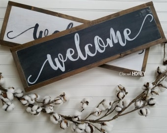 Welcome Sign - Welcome Home Sign - Wood Signs - Wooden Signs - Farmhouse Sign - Rustic Signs - Farmhouse Decor
