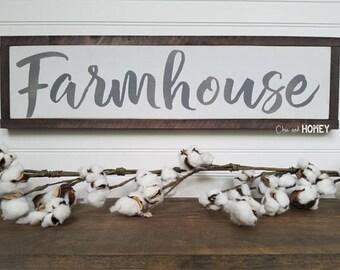 Farmhouse Sign - FARMHOUSE - Wood Signs - Wooden Signs - Farmhouse Signs - Rustic Signs - Farmhouse Decor