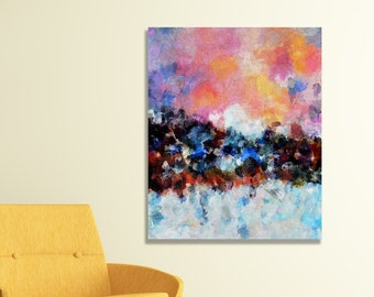 Abstract Landscape Painting, Giclee Print of Abstract Oil Painting, Abstract Wall Art, Abstract Art Print for Wall Decor, Contemporary Art