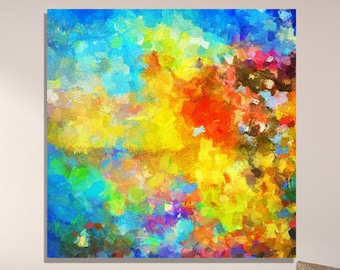 Seascape Abstract Print, Abstract Wall Art, Abstract Art Print for Wall Decor, Giclee Print of Abstract Painting, Contemporary Vibrant Art