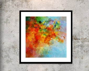 Colorful Abstract Canvas Print, Giclee Print of Abstract Painting, Abstract Wall Art, Contemporary Art for Wall Decor, Fine Art Print