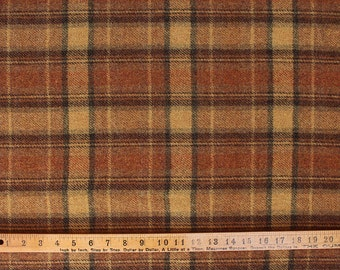 Canyon Gold Plaid, Felted Wool Fabric for Rug Hooking, Applique and Crafts