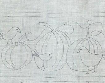 Crows & Pumpkins, Rug Hooking Pattern