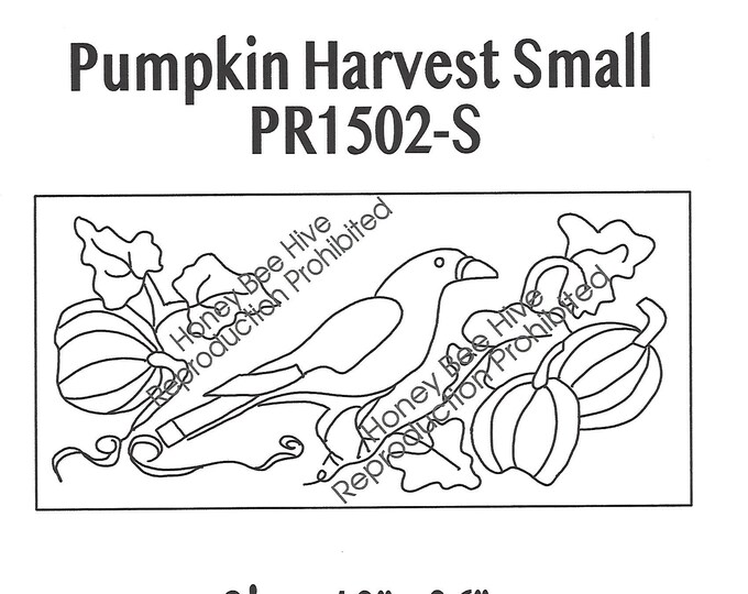 Pumpkin Harvest Small, Rug Hooking Pattern on Linen