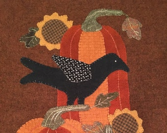 Pumpkins in the Sunflowers Wool Appliqué Kit