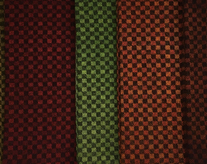 Checkerboard, Hand Dyed Felted Wool Fabric for Rug Hooking, Wool Applique and Crafts