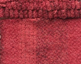 Revolutionary Red Stripe, Felted Wool Fabric for Rug Hooking, Wool Applique and Crafts