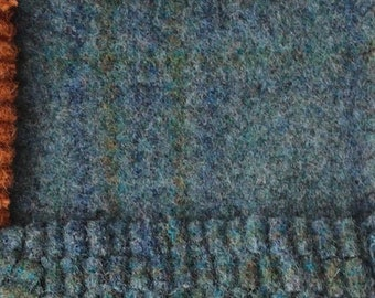 Aqua Velva, Felted Wool Fabric for Rug Hooking, Wool Applique and Crafts