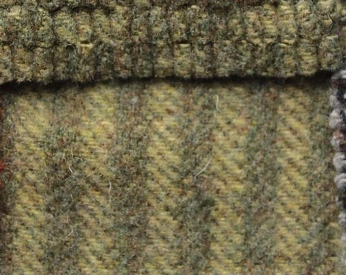 Pea Soup Stripes, Felted Wool Fabric for Rug Hooking, Wool Applique and Crafts
