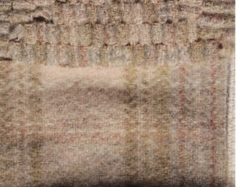 Khaki Back Around, Felted Wool Fabric for Rug Hooking, Wool Applique and Crafts