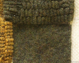 Grouch Green, Felted Wool Fabric for Rug Hooking, Wool Applique and Crafts