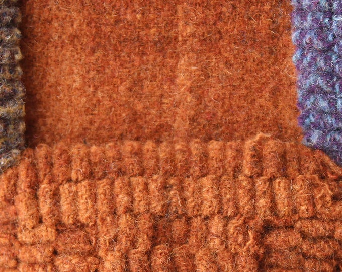 Sweet Potato Pie, Felted Wool Fabric for Rug Hooking, Wool Applique and Crafts