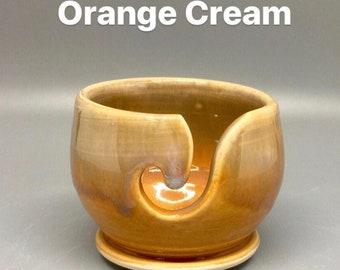 Orange Cream, Pottery Thread Bowl