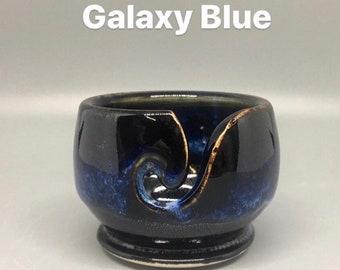 Galaxy Blue, Pottery Thread Bowl